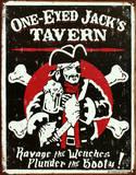 One Eyed Jack's Tavern Distressed Plechová cedule