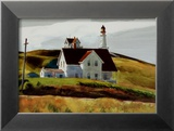 Colline et maisons de Cape Elizabeth au Maine Affiches par Edward Hopper