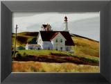 Colline et maisons de Cape Elizabeth au Maine Affiches par Edward Hopper