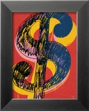 Dollar Sign, c.1981 (black and yellow on red) Poster von Andy Warhol