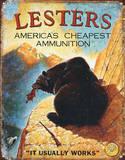 Lester's Ammunition Hunting Ammo Plaque en métal