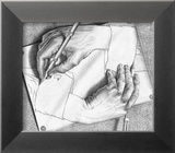 Mains dessinant Posters par M. C. Escher