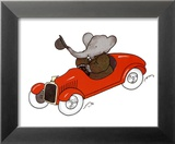 Babar en Auto Posters by Laurent de Brunhoff