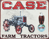 Case Farm Tractors CC High Tin Sign
