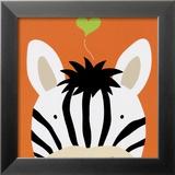 Peek-a-Boo XII, Zebra Poster by Yuko Lau