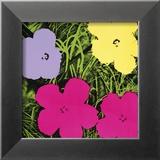 Blomster, ca. 1970, 1 lilla, 1 gul, 2 lyserøde  Plakater af Andy Warhol