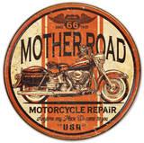 Mother Road Motorcycle Repair - Metal Tabela