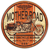 Mother Road Motorcycle Repair Cartel de chapa