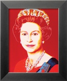 Reigning Queens: Queen Elizabeth II of the United Kingdom, c.1985 (Light Outline) Lámina por Andy Warhol