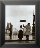 Musicien sous la pluie Art par Robert Doisneau