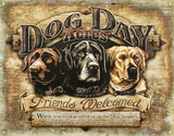 Dog Day Acres Emaille bord