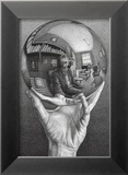 Hands with Sphere Kunst van M. C. Escher