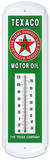 Texaco Motor Oil Indoor/Outdoor Weather Thermometer Tin Sign