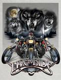 Live to Ride Wolves Motocycles Blikkskilt