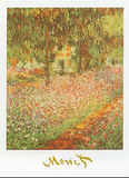 Monet's Garden at Giverny Posters by Claude Monet