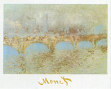 Waterloo Bridge Prints by Claude Monet