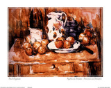 Still Life with Apples, a Bottle Milk Posters by Paul Cézanne