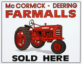 Farmalls Sold Here Tractor Tin Sign