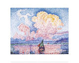 The Pink Cloud Posters por Paul Signac