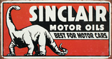 Sinclair Motor Oil Best For Motor Cars Tin Sign