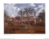 Meadow At Eragny Posters by Camille Pissarro