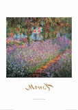 Monet's Garden at Giverny Posters af Claude Monet