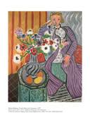 Purple Robe and Anemones Poster von Henri Matisse