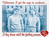 I Love Lucy Workout TV Tin Sign