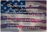 Star-spangled Banner Lyrics Poster Plakater