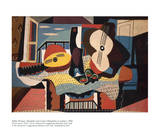 Mandolin and Guitar Prints by Pablo Picasso
