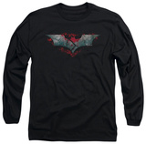 Long Sleeve: The Dark Knight Rises - Split & Crack Logo Shirt