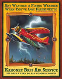 Kahonee Bros Air Service Plechová cedule
