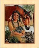 Maiden Wolf & Horse Print