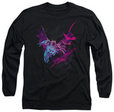 Long Sleeve: The Dark Knight Rises - Batarang (Pink) T-Shirt