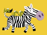 The Zebra Affiches par Nathalie Choux