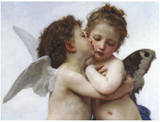 Primer beso Láminas por Bouguereau, William Adolphe