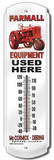 Farmall Equipment Used Here Indoor/Outdoor Thermometer Tin Sign