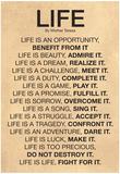 Mother Teresa Life Quote Poster - Reprodüksiyon