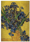 Irises in Vase Posters by Vincent van Gogh