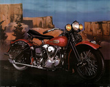 Knucklehead Motorcycle Prints by Ron Kimball