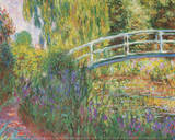 The Japanese Bridge Water Lily Pond Plakater af Claude Monet