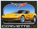 Chevrolet Chevy Corvette C6 Plechová cedule