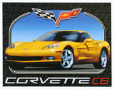 Chevrolet Chevy Corvette C6 Cartel de metal