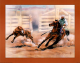 Calf Ropin&#39; Posters by Dan McManis