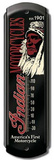 Indian Motorcycles Indoor/Outdoor Thermometer Cartel de chapa