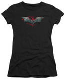 Juniors: The Dark Knight Rises - Split & Crack Logo T-Shirt