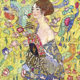 Lady with Fan Affiches van Gustav Klimt