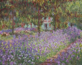 The Artist's Garden at Giverny Posters av Claude Monet