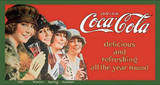 Coca Cola Coke Four Seasons Women Tin Sign