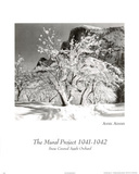 Snow covered orchard Ansel Adams Posters
